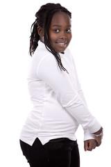 casual black girl