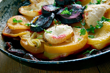 Beet and Turnip Gratin