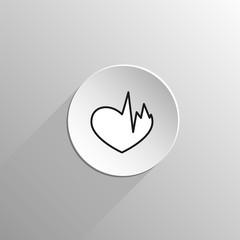 Sick heart black icon
