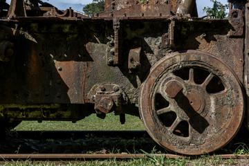 Abandoned train in Paranapiacaba railway station- SP - Brazil