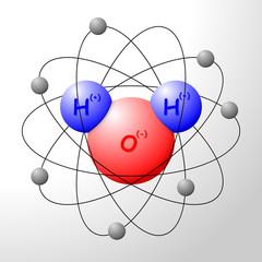 3D H2O water atom vector