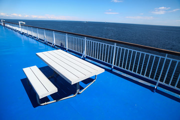 Deck on a cruise ship