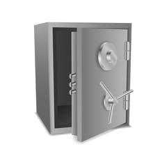 Vector open steel safe