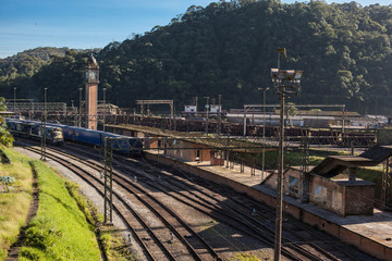 Railroad and Clock Tower of Paranapiacaba - SP - Brazil