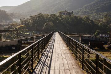 Footbridge over railroad of Paranapiacaba - SP - Brazil