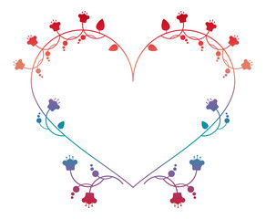 Valentine frame in shape of heart