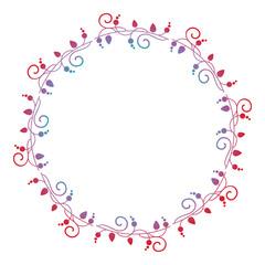 Round ornamental frame