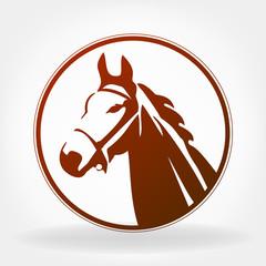 Horse logo. Vector illustration.