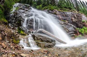 Long Exposure of Waterfall from Snow Melt in Colorado