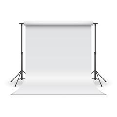 White paper studio backdrop. Vector illustration.