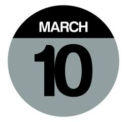10 march calendar circle