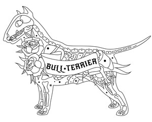Outline Bull Terrier