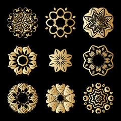 Vector gold ornaments.
