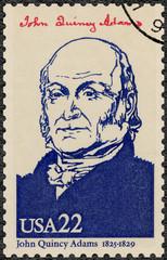 USA - 1986: shows portrait John Quincy Adams (1767-1848)