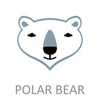 Polar bear face template design stock image and for Polar bear face template