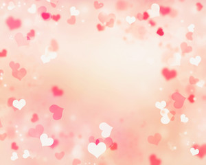 Valentine romantic frame  illustration background.