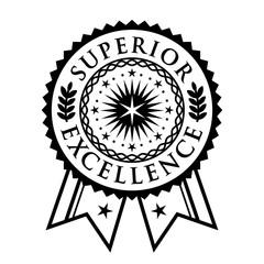 Certificate seal, emblem, superior excellence achievement