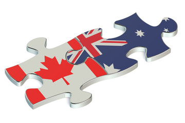 Australia and Canada puzzles from flags