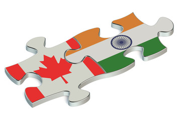 India and Canada puzzles from flags