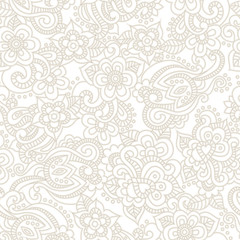 Vector seamless pattern with romantic floral background