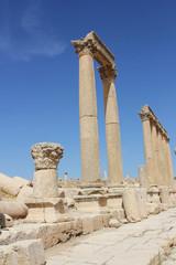 Jerash - Säulen