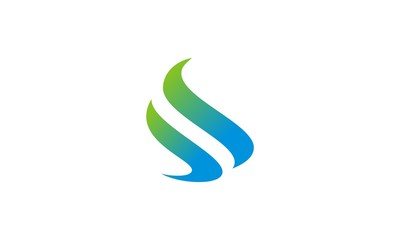 letter S abstract wave logo