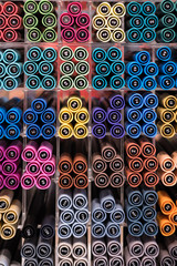 stack of colorful ink pens