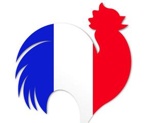 coq france drapeau bleu blanc rouge