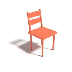 orange colored seat  - 3D Illustration