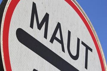 Deutsches Verkehrszeichen: Mautpflicht nach dem Bundesfernstraßenmautgesetz