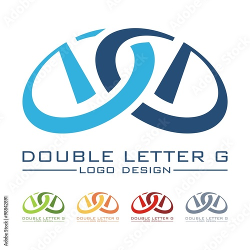 Letter g double letter g galaxy design logo vector for Double g architecture