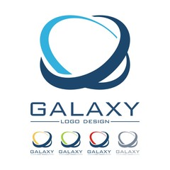 Galaxy, Oval Design Logo Vector
