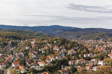 Blick auf Wernigerode mit Harz