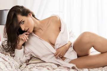 erotic woman on bed