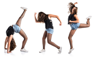 Teenager hip-hop dancer