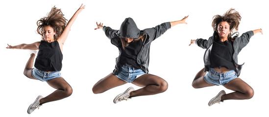 Teenager hip-hop dancer