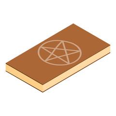 Book of black magic isometric 3d