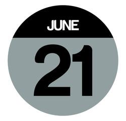 21 june calendar circle