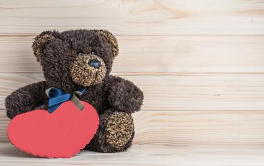 teddy bear and Valentine heart