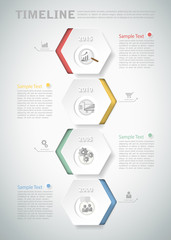 3D digital template Infographic for business concept.