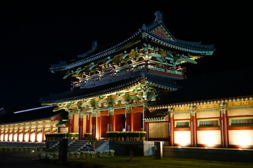 korean traditional house, asia classic architecture,classic building