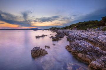 Wall Mural - Coastal rocks on Cres Island