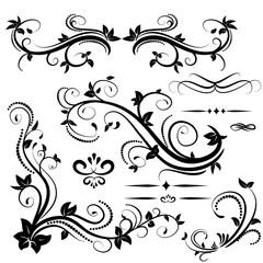 Swirl elements for design