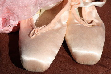pink slippers Ballet