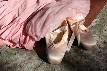 pink tutu and slippers Ballet