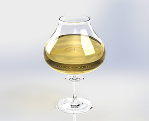 glass of wine isolated