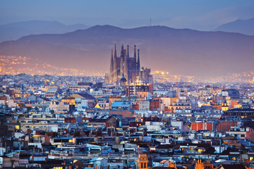 Photo sur Toile Barcelone Barcelona in Spain