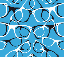 glasses seamless pattern retro hipster sunglasses. vector abstract background