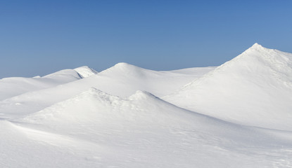 Snowhills at Baikal lake