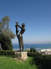 Вид из парка на город Хайфа . Израиль..